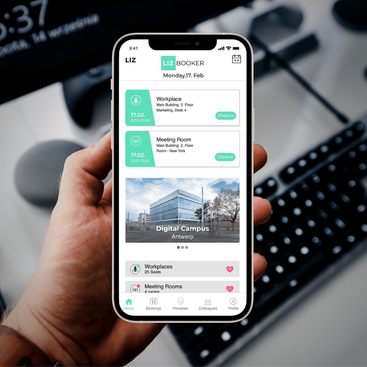 Homescreen Booker App