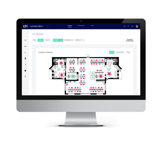 Live overview of your office utilization